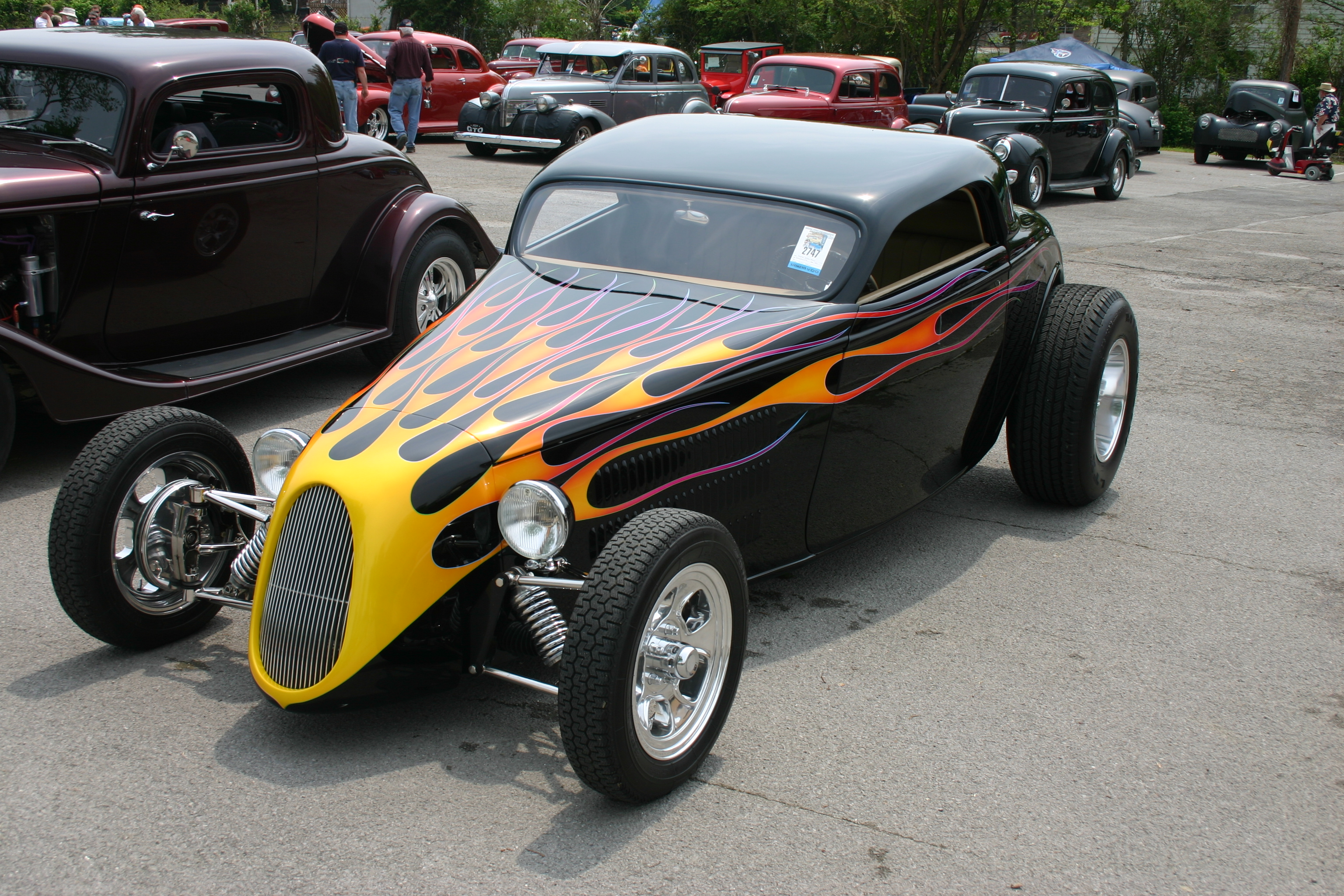 A beautiful street rod that I saw in Tennessee