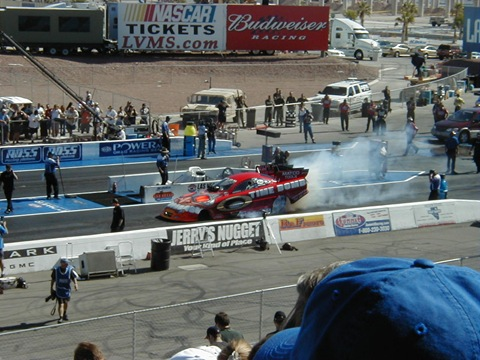Funny car burnout (Las Vegas, October, 2003)